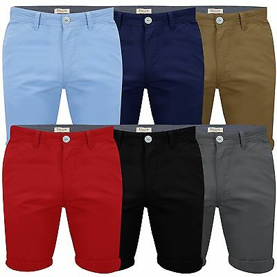 Mens Chino Shorts Cotton Work Casual Half Pants by Stallion Summer New All Sizes