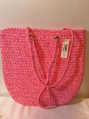 Longaberger Ribbons Of Hope Large Weaved Tote/Bag/Purse Horizon Of Hope W/Tags