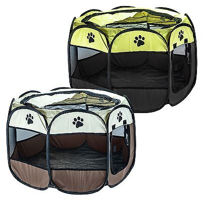Pet Play Pen Animal Playpen Puppy Dog Rabbit Run Folding Fabric Fence Cage Crate
