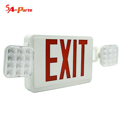 Lighting Red Exit Sign LED Emergency Light Combo With Battery Backup US Standard