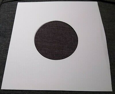 "Package of 25, 45 rpm 7"" Record Sleeves 20# White Paper.  100% acid-free."
