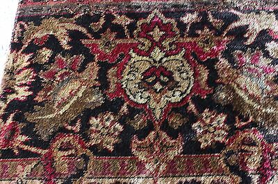 Antique French 19thC Silk Chenille Home Dec Border Textile Fabric~Ethnic Print