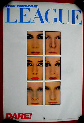 Human League 1982 poster DARE mint condition Flawless
