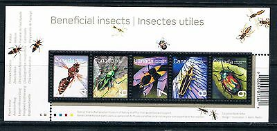 Bloc Sheet Insectes Insecte scarabée Insects Beetles Bug Neuf MNH ** Canada 2010