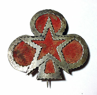 Civil War 2nd/12th Corps 1st Div II/XII RARE Combo Badge Silhouette Metal/Fabric