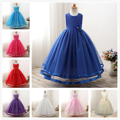 Flower Girl Dress Princess Pageant Wedding Birthday Party Bridesmaid Dresses