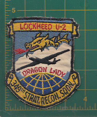 Authentic Air Force USAF  349th SRS, Davis-Monthan AFB, U-2 Dragon Lady Patch