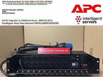 APC Switched Rack 2U 32A 230V C13 PDU / AP7922