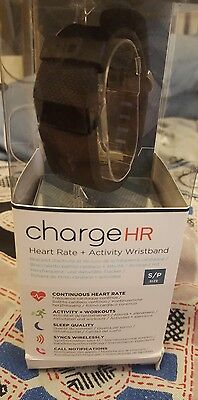 Fitbit Charge hr (Small) with original packaging and charger. Spares/Repairs