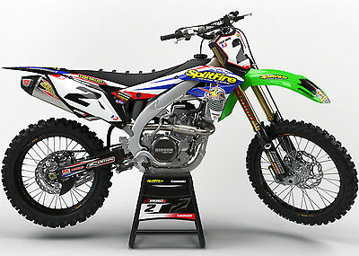 Kawasaki Kxf 250 2009 - 2012 Motocross Graphics Mx Graphics Kit Splitfire White