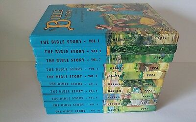 The Bible Story.  Illustrated Children's Bible Story Set Volumes 1-10 Books HC