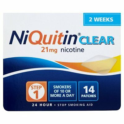 NiQuitin Clear 21mg 24 Hour Step 1 14 Patches