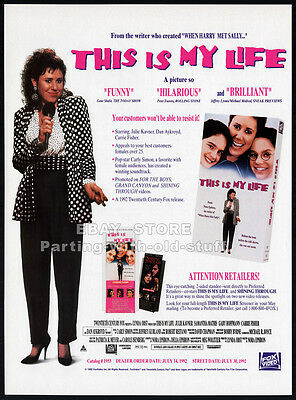 THIS IS MY LIFE__Original 1992 Trade AD movie promo__JULIE KAVNER__GABY HOFFMANN