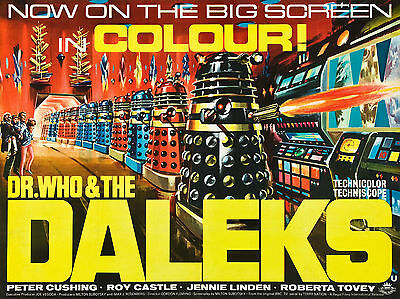 "Dr Who and the Daleks 1965 16"" x 12"" Reproduction Movie Poster Photograph"