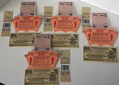 Vintage 1987 Levi Strauss 501 Denim Jeans Cardboard Pants Tags USA 4 Sets