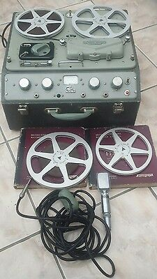 Ferrograph Series 4 with Microphone Reel to Reel Tape Recorder Working Order