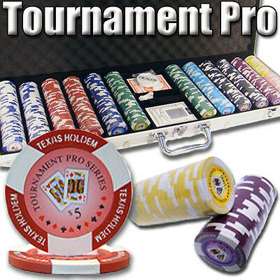 New 600 Tournament Pro 11.5g Clay Poker Chips Set w/ Aluminum Case - Pick Chips