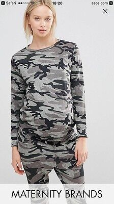 New Look Maternity Camo Camouflage Tracksuit Lounge Wear Size 10 BNWT
