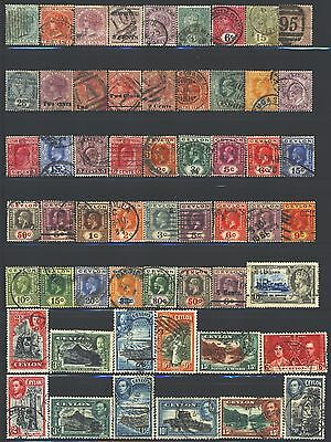 CEYLON Collection of 76 Used 1857-1953 Era All Different