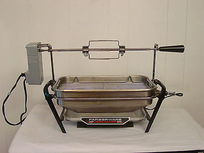 Vintage Faberware open hearth electric broiler rotisserie and motor and cord