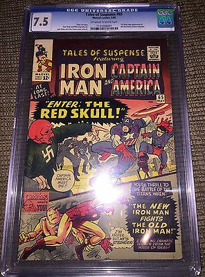 TALES OF SUSPENSE #65 CGC 7.5 1st Red Skull CANADA SELLER off-white/white pages