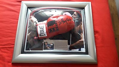 Hand Signed Sir Henry Cooper Red Everest Ali Center Boxing Glove