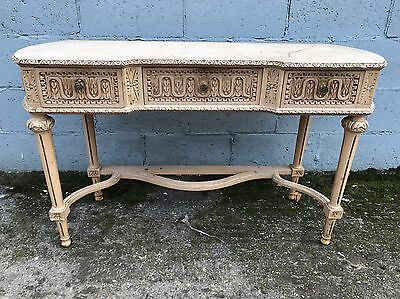 Antique, French, Vintage Console, Dressing Table Original Paint
