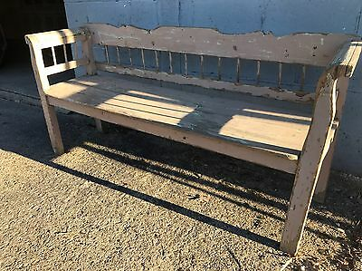 Beautiful, Swedish, Painted, Vintage, Antique, Industrial, Bench, Seat