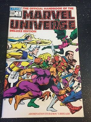 Marvel Universe#1 Incredible Condition 9.0(1985) Byrne Cover !!
