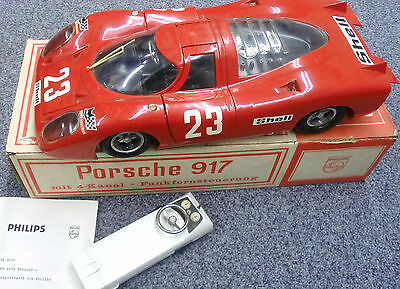 PORSCHE 917 Philips Vintage 1970er Fernlenkauto OVP neuw. VE 2002 MIB Car Toy