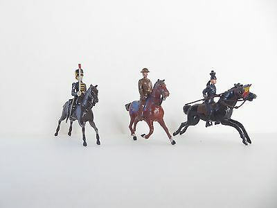 Toy Soldiers -  Old Britains - 3 Mounted soldiers - 54mm lead