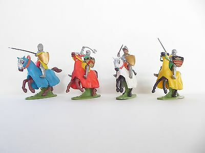 Toy Soldiers - Britains Ltd - Medieval Mounted knights - plastic 54mm