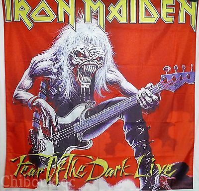 IRON MAIDEN Fear of The Dark Live HUGE 4X4 BANNER poster tapestry cd album cover