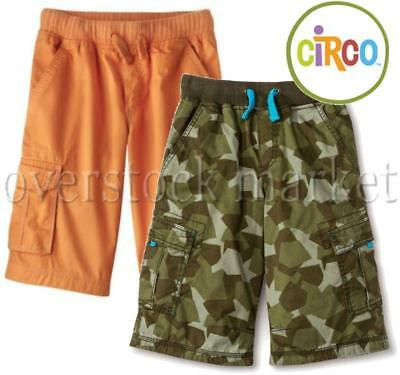 New Young Boys Circo Knit Waist Pull On Cargo Shorts Cotton Cargo Shorts Variety