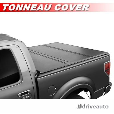 Tri-Fold Hard Solid Tonneau Cover For 2005-2015 Toyota Tacoma Double Cab 5ft Bed