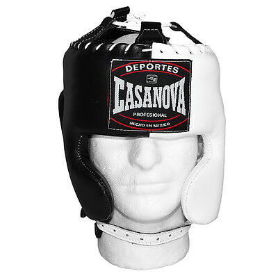 New Casanova Mexican Style Headgear  Cheek Protection - Black/White - One Size