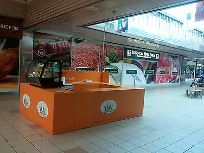 Retail kiosk for shopping centre RMU, Available in various designs and colors