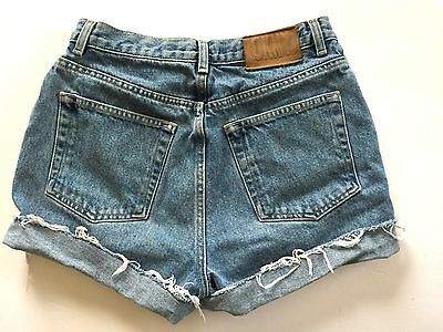 "Vintage 90s DKNY Cut Off Jean SHORTS 28"" High Waist Cuffed Stonewash Medium"
