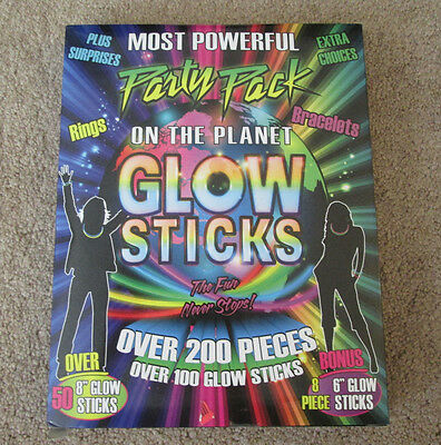 Glow Sticks Party Pack Over 200 Pieces great for Electric Daisy Burnning Man +++