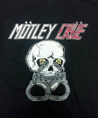 Motley Crue Satd Reproduction Silk Screened Skull Shack Tour Shirt Double Sided