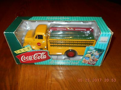 1995 Ertl Die-Cast Metal Bank - 1953 Ford C-500 Coca-Cola Delivery Truck in Box