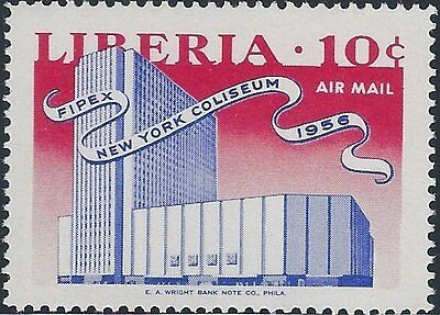 Timbre Poste Neuf Stamp TTB Liberia Air Mail New York Coliseum 1956 n°LR PA97