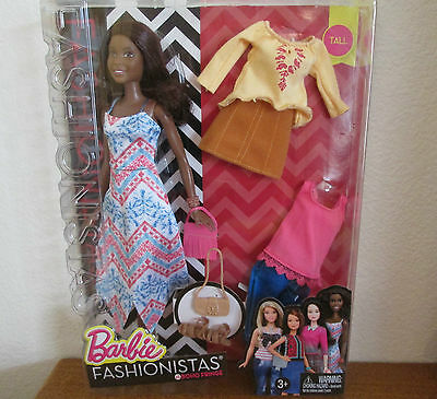 Barbie Fashionistas Doll Boho Fringe w/ clothes shoes African American Doll NEW