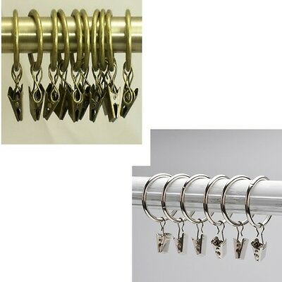 Curtain rings with hooks/clips for draperies curtains window coverings-