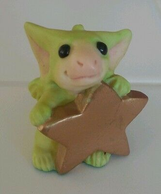 "Whimsical World of Pocket Dragons Real Musgrave ""SUPERSTAR"" Dragon w Gold Star"