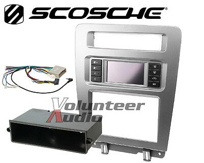 Scosche FD1441BB UAC Dual Din Radio Install Kit For 2010-14 Ford Mustang