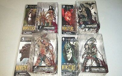 Lot of 4 McFarlane Spawn 'Monsters Action Figures Toys Sealed