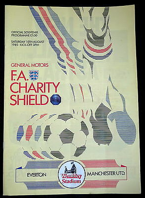 Everton v Manchester United     Charity Shield     10-8-1985
