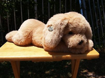 "Vintage Gund - Large - Muttsy Dog - 21/24"" - #1362- Suede Paws - 1985- Very Nice"