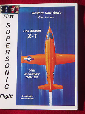 First Supersonic Flight 50th Anniversary commemorative booklet  Bell Aircraft X1